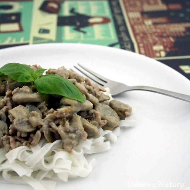 sos pieczarkowy do kaszy ryżu czy makaronu