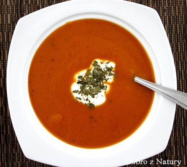 zupa krem marchwiowo pomidorowa