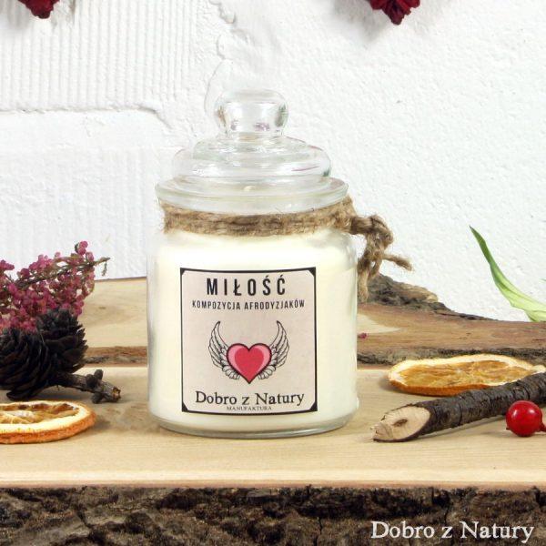 Świeca zapachowa sojowa – MIŁOŚĆ kompozycja afrodyzjaków