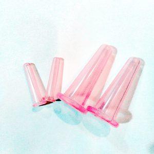 Bańki silikonowe do masażu twarzy – 4 szt.
